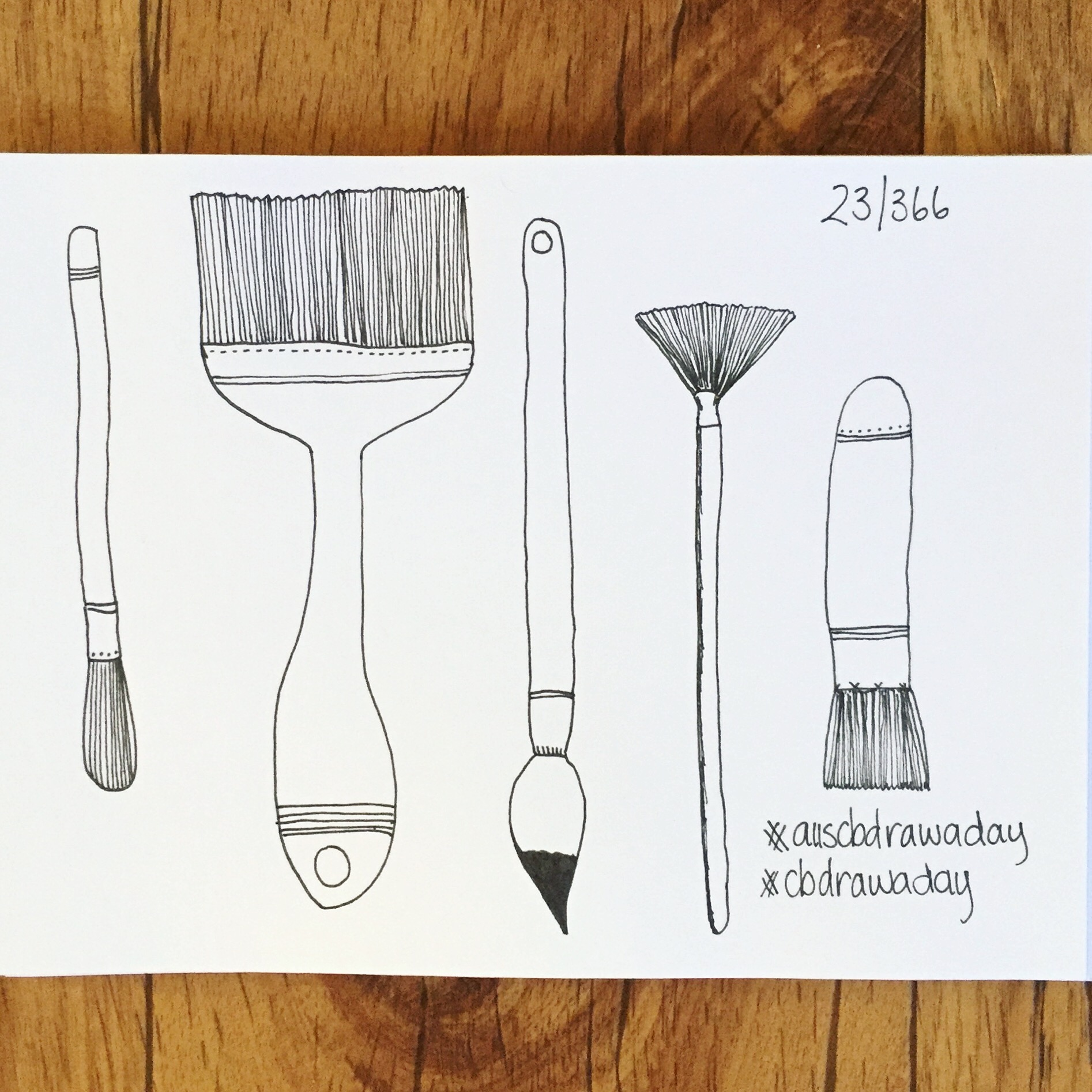 Day 23 Paintbrushes